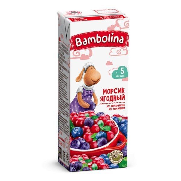 Сок Bambolina Морс ягодный 200 млТМ: 1312330