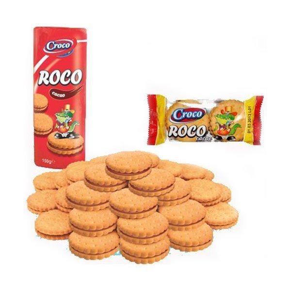 Купить Печенье Croco Roco с кремово-шоколадной начинкой, 150 г ТМ: Croco
