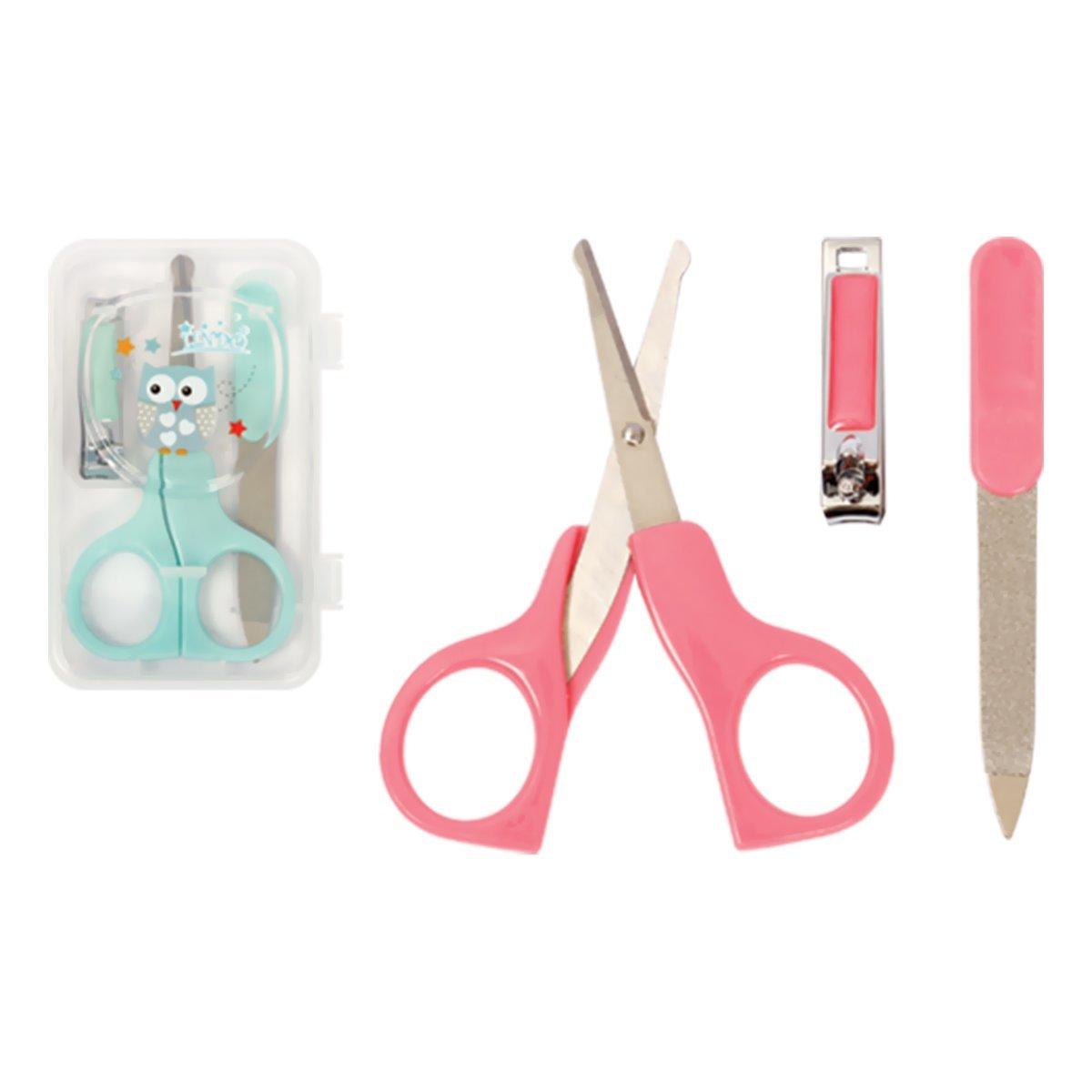 Купить Маникюрные принадлежности, Набор Lindo Pink&Green Маникюрные ножницы и щипчики (в ассорт) LI 801 ТМ: Lindo