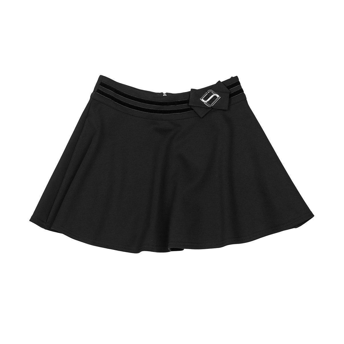 Платья, сарафаны, юбки, Демисезонная трикотажная юбка черного цвета, р. 134 1651-02 ТМ: Mevis, черный  - купить со скидкой