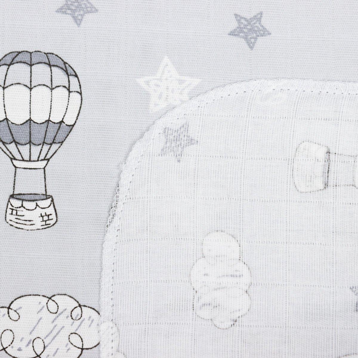 Купить Для новорожденных, Пеленка Бетис Air Balloon 80х110 см 27683334 ТМ: Бетис, серый