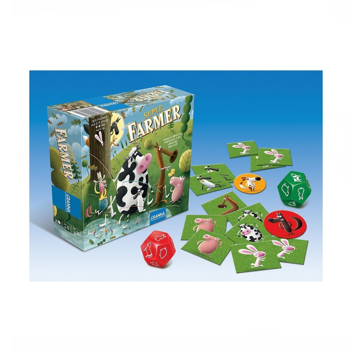 Купить Развлекательные, Настольная игра Суперфермер в стиле Ранчо 81756 ТМ: GRANNA