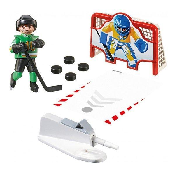 Купить Игровые наборы Playmobil, Мини набор Playmobil Хоккейный тренажер для забивания голов 6192 ТМ: Playmobil