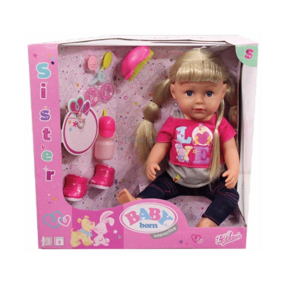 Купить Куклы и наборы, Интерактивная кукла Baby Born Старшая сестренка, 43 см 820704 ТМ: BABY born