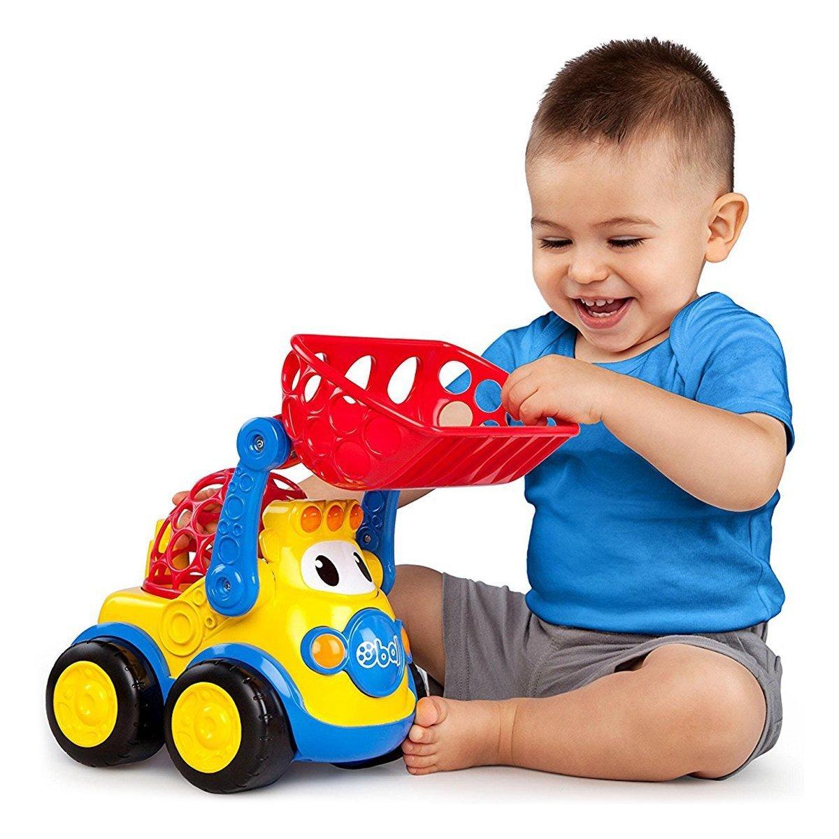 Купить Авто - мото, Машинка Bright Starts Oball Go Grippers Погрузчик 10313 ТМ: Bright Starts