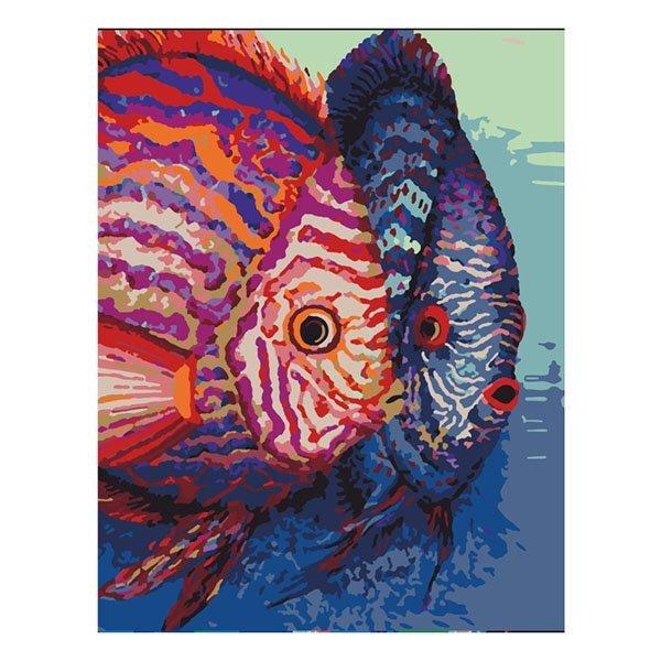 Купить Наборы для рисования, Набор для рисования ROSA START Рыбы N00013100 ТМ: ROSA START