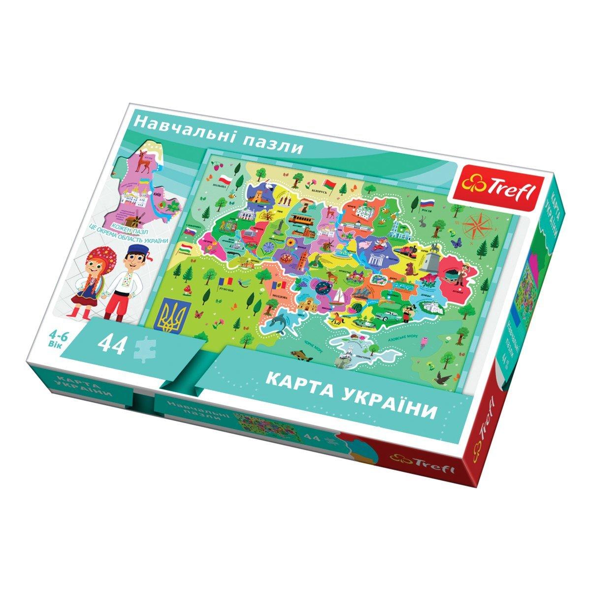 Купить Картонные, Пазл Trefl Карта Украины 44 эл 15532 ТМ: Trefl