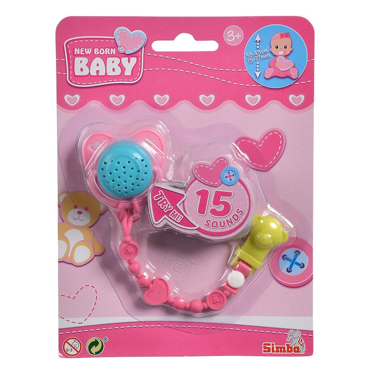Купить Аксессуары для кукол, Пустышка для пупса New Born Baby 15 звуков (в ассорт) 5560118 ТМ: New Born Baby