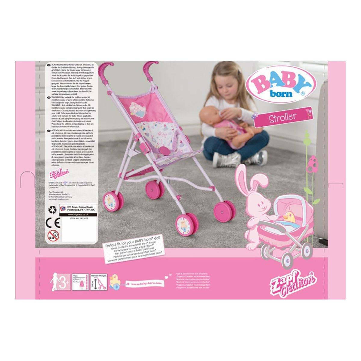 Купить Аксессуары для кукол, Коляска для куклы BABY Born Веселая прогулка 1423626.TY ТМ: BABY born