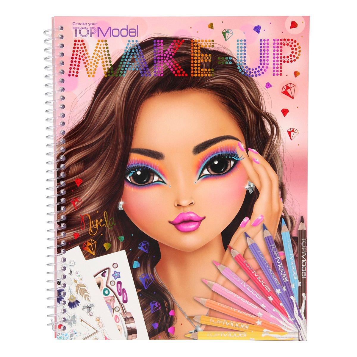 Купить Наборы для рисования, Альбом для раскрашивания TOP Model Макияж 410728 ТМ: TOP Model