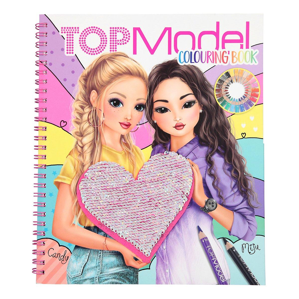 Купить Наборы для рисования, Альбом для раскрашивания с пайетками 410744 ТМ: TOP Model