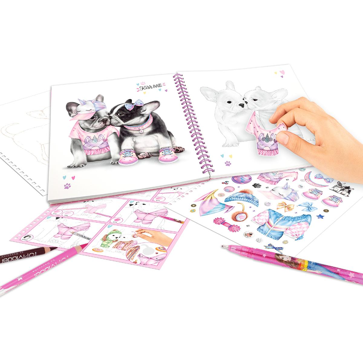 Купить Наборы для рисования, Альбом для раскрашивания TOP Model Щенки 411025 ТМ: TOP Model