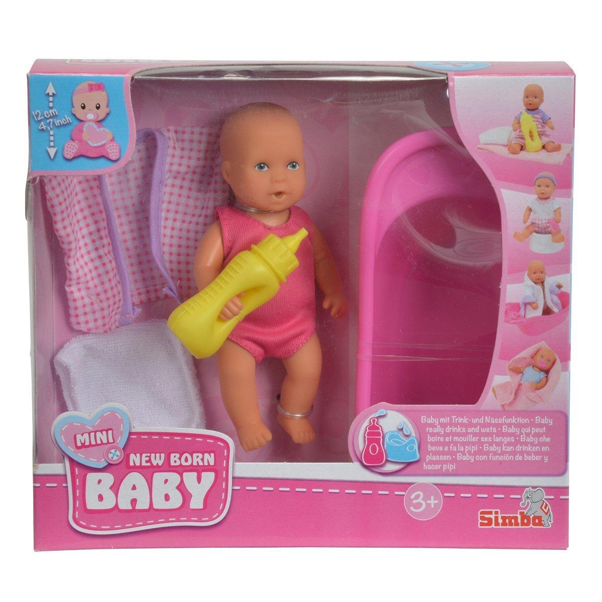 Купить Пупсы и наборы, Мини пупс New born baby с ванночкой 5033218 ТМ: New Born Baby