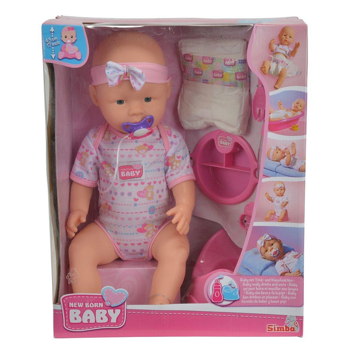 Купить Пупсы и наборы, Набор с пупсом Simba New Born Baby, 43 см 5039005 ТМ: New Born Baby