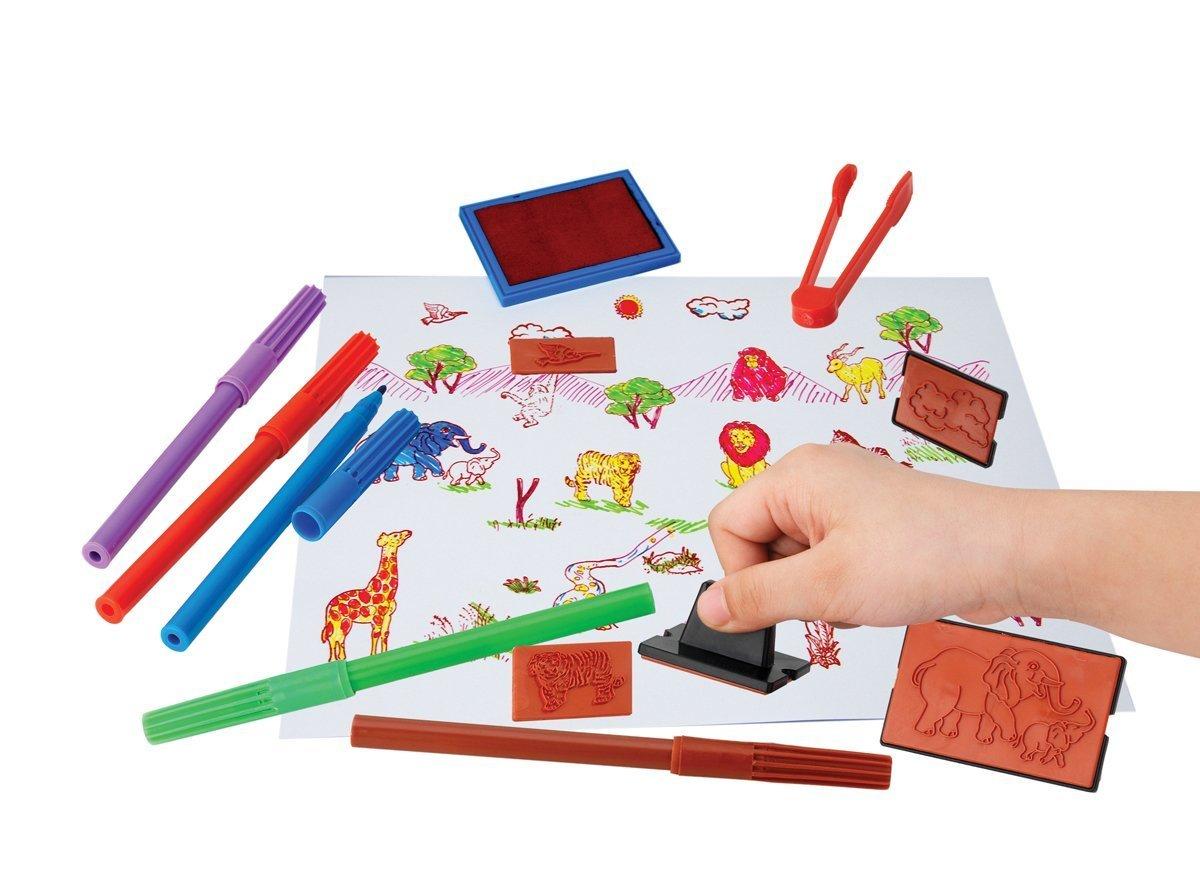 Купить Наборы для рисования, Большой набор штампов Art&Fun с фломастерами 6311029 ТМ: Art&Fun