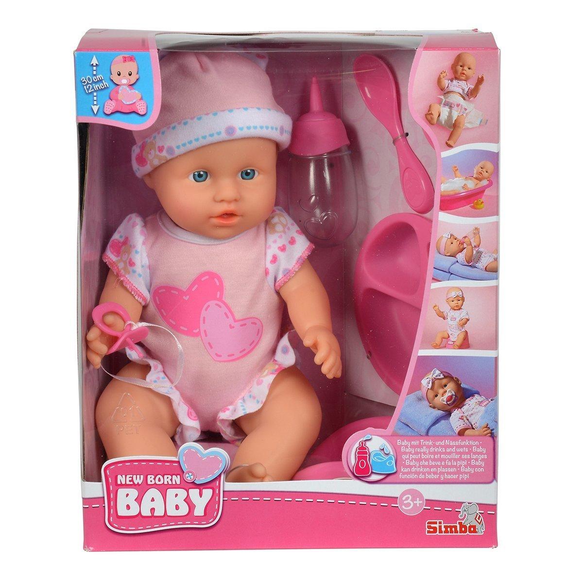 Купить Пупсы и наборы, Пупс Simba New Born Baby Уход за малышом, 30 см 5030005 ТМ: New Born Baby
