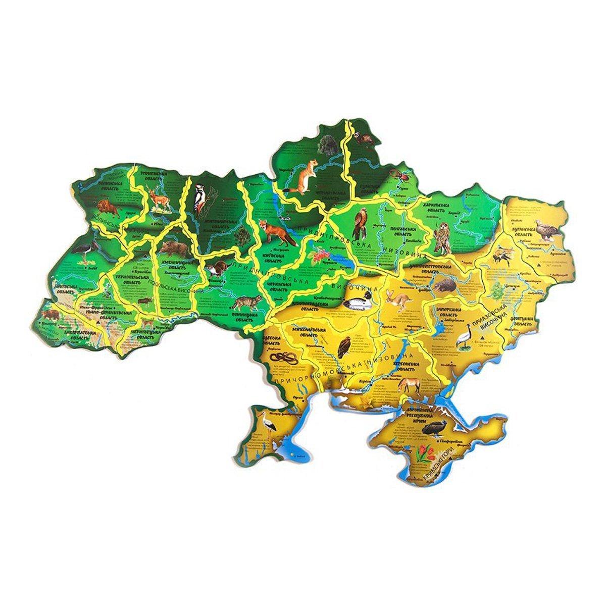 Купить Картонные, Карта-пазл Uteria Флора и фауна Украины, 36 эл. 727798 ТМ: Uteria