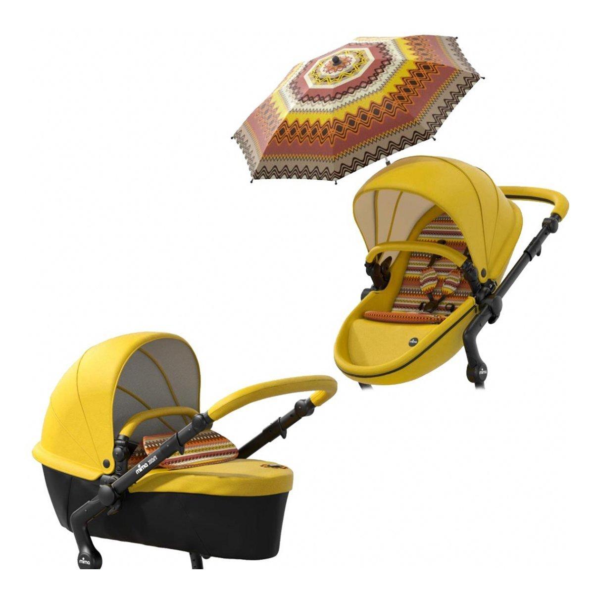 Купить Коляски зима-лето 2 в 1, Базовый набор Mima Xari Yellow, желтый 30149 ТМ: mima