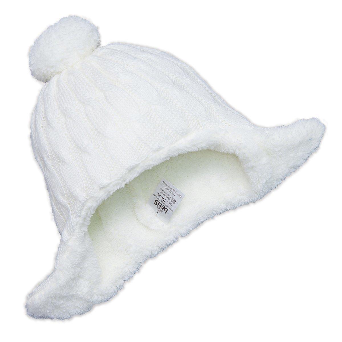 Купить Головные уборы, шарфы, варежки, перчатки, Шапка на завязках Бетис Снежок-2 молочного цвета, р. 68 27074400 ТМ: Бетис, молочный
