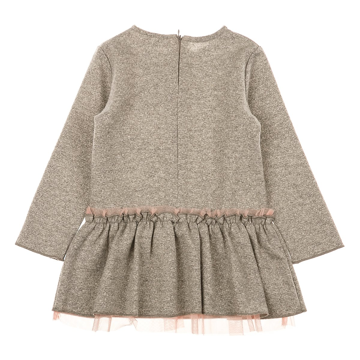 Купить Платья, сарафаны, юбки, Платье BluKids Love&Flowers, р. 74 5479458 ТМ: BluKids, серый
