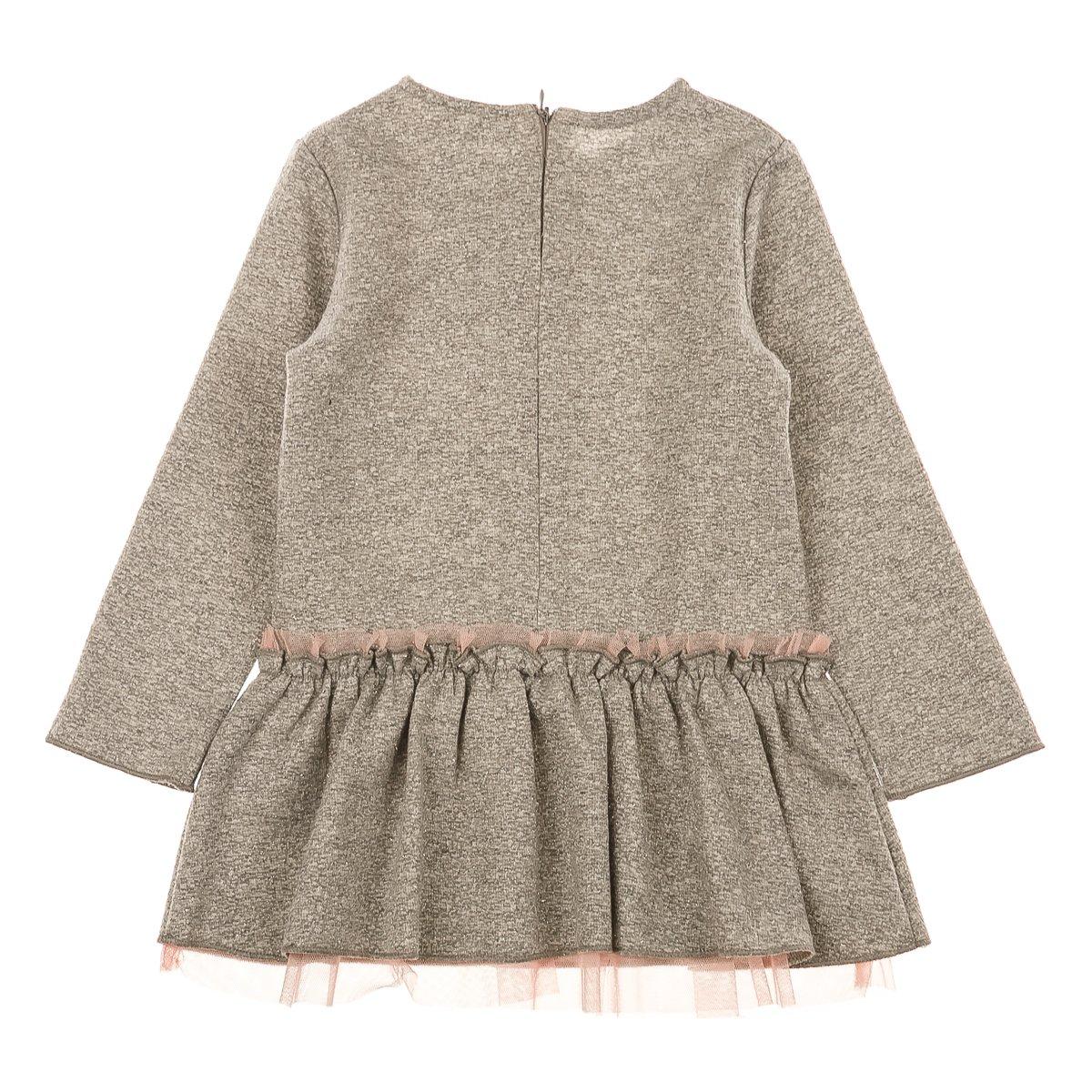 Купить Платья, сарафаны, юбки, Платье BluKids Love&Flowers, р. 86 5479458 ТМ: BluKids, серый